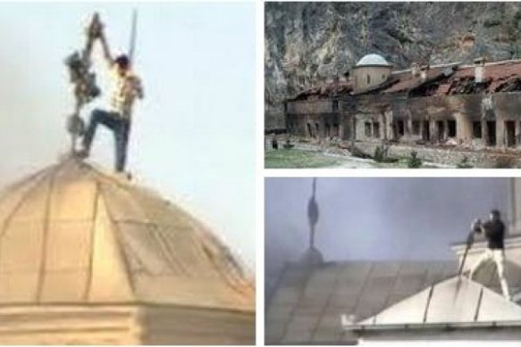 Albanian terrorism against UNESCO cultural object!